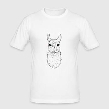 Illamanati | Cool Llama Design with Triangle - T-shirt près du corps Homme