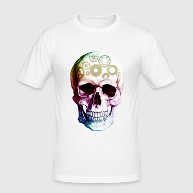 Mechanical Skull Anatomy Design - Men's Slim Fit T-Shirt