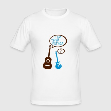 Acoustic electric guitar your father - Men's Slim Fit T-Shirt
