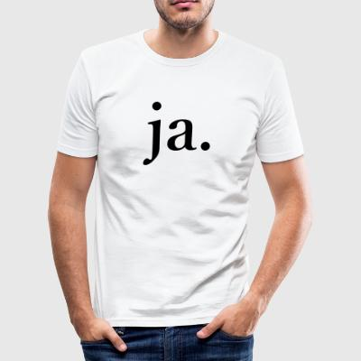 ja - Slim Fit T-skjorte for menn