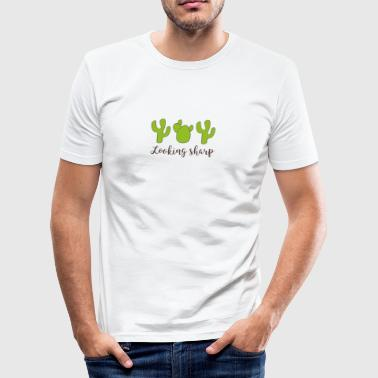 kaktus - Slim Fit T-shirt herr