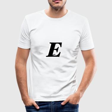 E alphabet - Men's Slim Fit T-Shirt