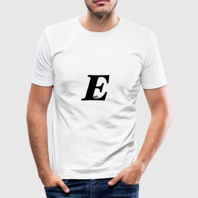 E Alphabet - Männer Slim Fit T-Shirt