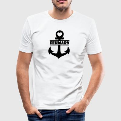 anker Fehmarn - Slim Fit T-skjorte for menn