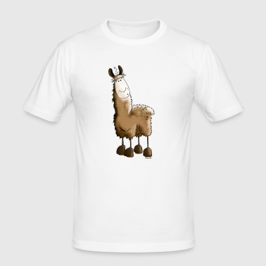 Drolliges Lama - Alpaka - Männer Slim Fit T-Shirt