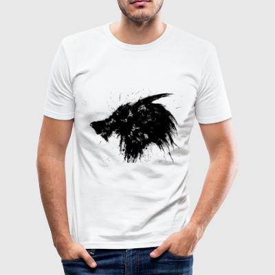 Wolf Splatter Design - Slim Fit T-skjorte for menn