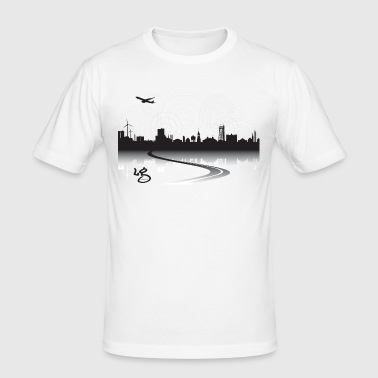 2000x2000px_aalborgshadow - Herre Slim Fit T-Shirt