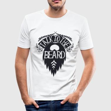 Talk to the Beard - Männer Slim Fit T-Shirt