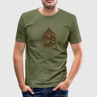 Ganesha Elefant (elephant) No.04.2_1c - Männer Slim Fit T-Shirt