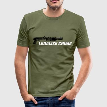 legalize crime - Männer Slim Fit T-Shirt