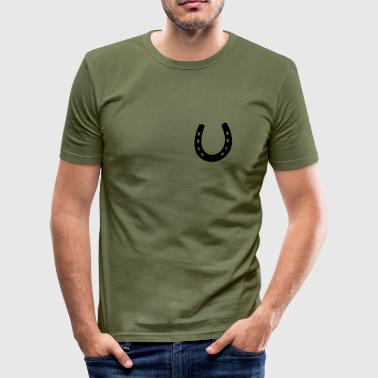 Hufeisen - Männer Slim Fit T-Shirt