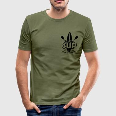 Live, Love, SUP Stand Up Paddling - Männer Slim Fit T-Shirt