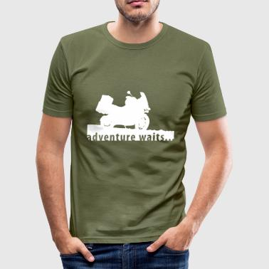 Motorbike adventure waits... - slim fit T-shirt