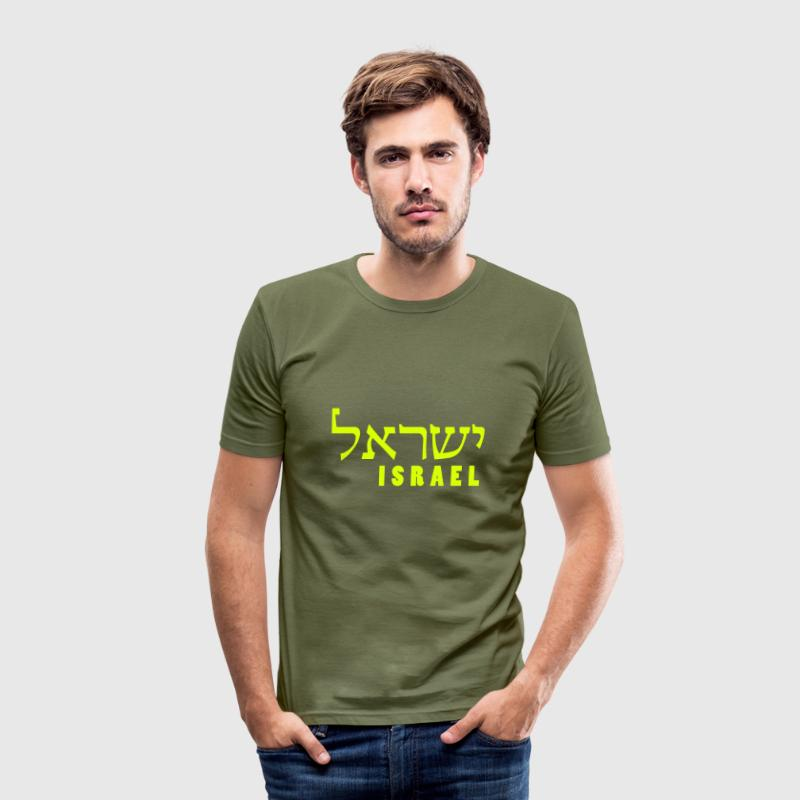 ISRAEL - hebrew - Männer Slim Fit T-Shirt