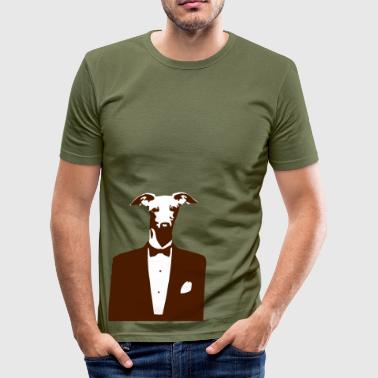 Cool Dog in Tuxedo - Slim Fit T-shirt herr
