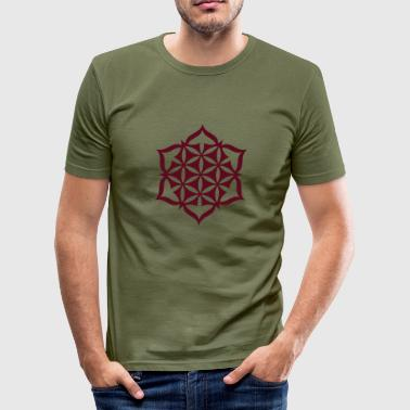 Flower Of Life - Lotus 01 - Männer Slim Fit T-Shirt
