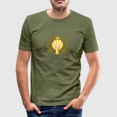 Bier Bier King v3 - Männer Slim Fit T-Shirt