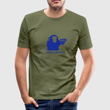Monkey With Gun Monkey Mafia - Men's Slim Fit T-Shirt