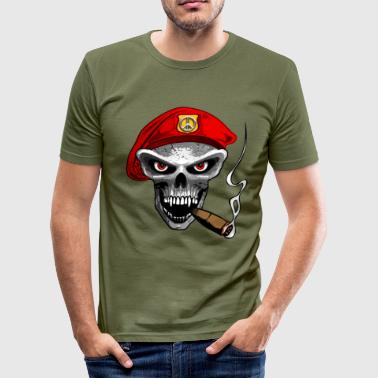 peace army skull - Tee shirt près du corps Homme