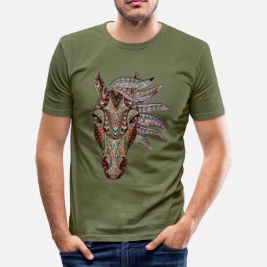 Equine Design Awo the decorated horse - Men's Slim Fit T-Shirt