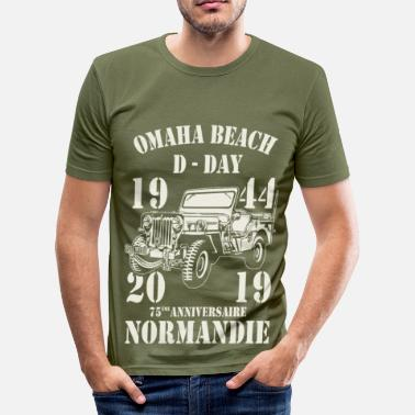 Omaha Omaha Beach D-Day 1944 - 2019 - T-shirt moulant Homme