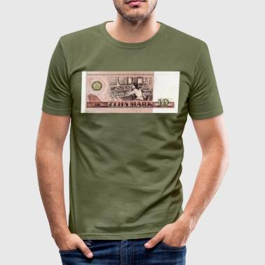 Ddr East Germany 10 mark of the GDR - Men's Slim Fit T-Shirt