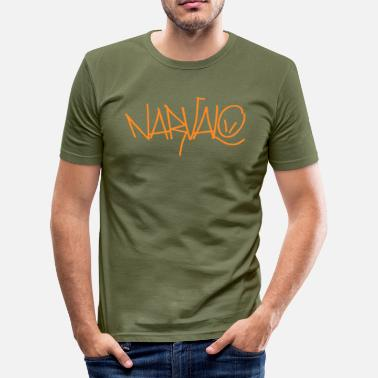 Laurent narvalo orange - Männer Slim Fit T-Shirt