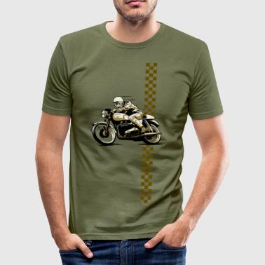 Cafe Racer - Männer Slim Fit T-Shirt