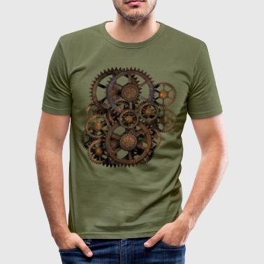 Steampunk Gears T-Shirts - Slim Fit T-shirt herr