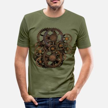 Steampunk Steampunk Gears T-Shirts - Slim Fit T-shirt herr