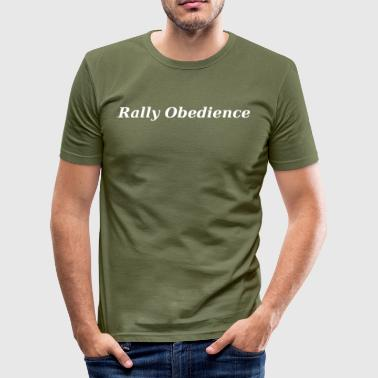 Hundesport Obedience Rally Obedience Weiss, Hundesport,Sporthund, - Männer Slim Fit T-Shirt