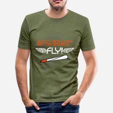 Smoke Ganja Smoke And Fly - Men's Slim Fit T-Shirt