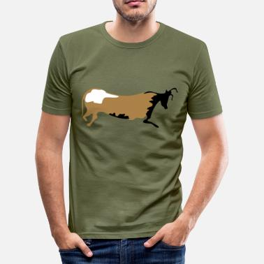 Neolithic Bull - Men's Slim Fit T-Shirt
