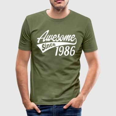 Since 1986 Awesome Since 1986 - Men's Slim Fit T-Shirt