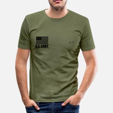 Us Major General MG US Army, Mision Militar ™ - T-shirt près du corps Homme