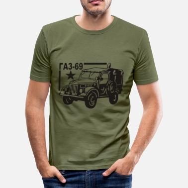 Gaz 69 GAZ 69 Russischer Jeep - Männer Slim Fit T-Shirt