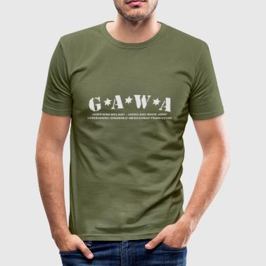 Green & White Army - Men's Slim Fit T-Shirt