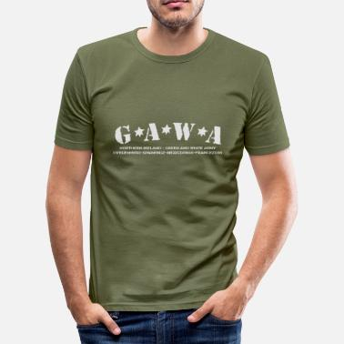 Gawa Green & White Army - Men's Slim Fit T-Shirt