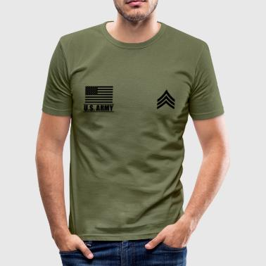 Sergeant SGT US Army, Mision Militar ™ - Männer Slim Fit T-Shirt