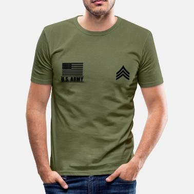 Army Sergeant Sergeant SGT US Army, Mision Militar ™ - Men's Slim Fit T-Shirt