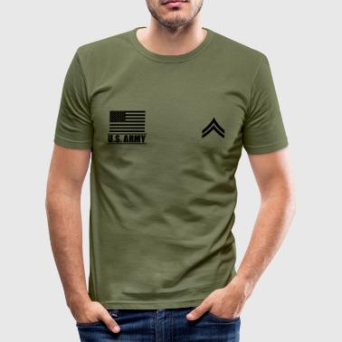 Corporal CPL US Army, Mision Militar ™ - Men's Slim Fit T-Shirt