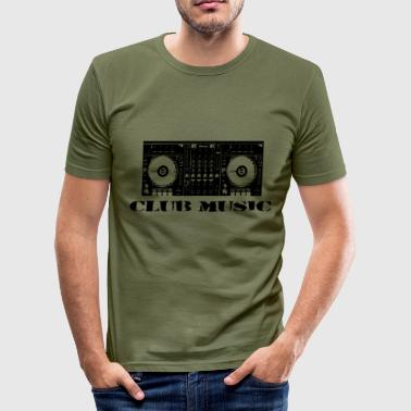 Club Music Club Music mixer - Men's Slim Fit T-Shirt