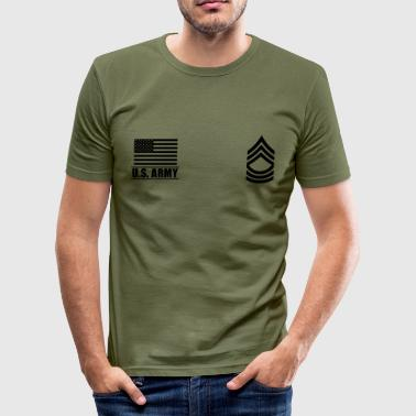 Master Sergeant MSG US Army, Mision Militar ™ - Tee shirt près du corps Homme