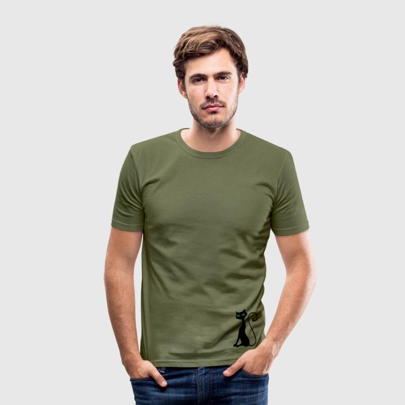 , katze - Herre Slim Fit T-Shirt