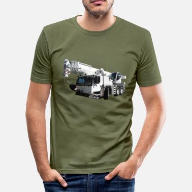 Mobile Crane construction equipment - Men's Slim Fit T-Shirt