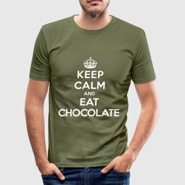 Keep calm and eat chocolate - Slim Fit T-shirt herr