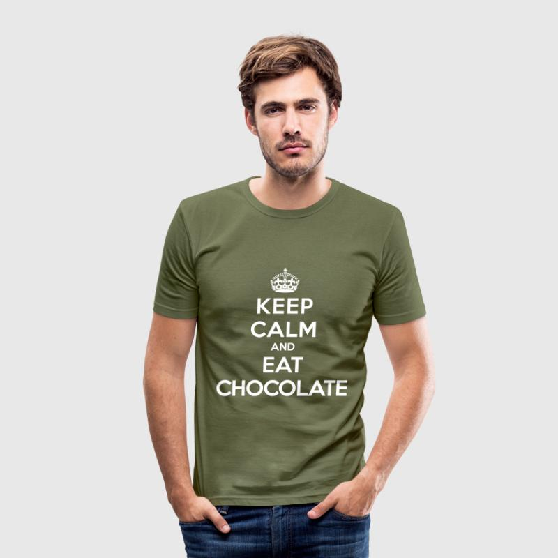 Keep calm and eat chocolate - slim fit T-shirt