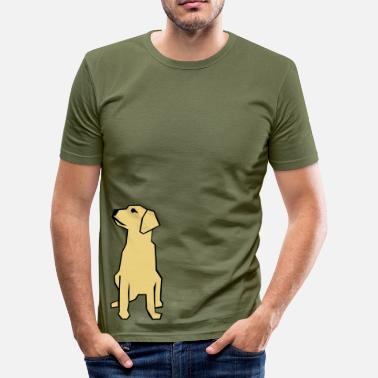 A dog philosophing about life - Slim Fit T-skjorte for menn