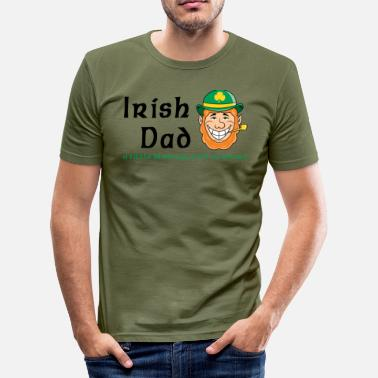 Irish Music Irish dad - Maglietta aderente da uomo