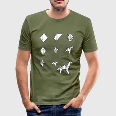 Wolfsburg Origami Unicorn (inspired by Blade Runner) - Men's Slim Fit T-Shirt
